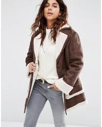Asos Vintage Style Faux Shearling Coat
