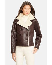 Dark brown shearling jacket original 10139963