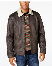 Nautica Big Tall Jacket With Faux Shearling Collar