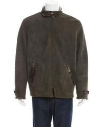 Biyan Suede Shearling Lined Jacket