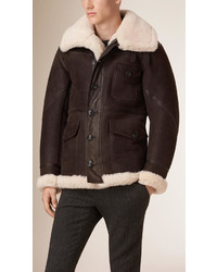 Burberry Brit Shearling Aviator Jacket
