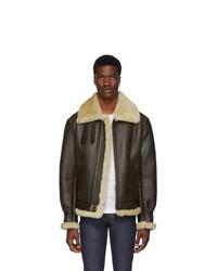 Schott Brown B 3 Shearling Jacket