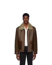 Schott Brown Leather Combination Jacket