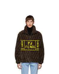 Fendi Brown Shearling Forever Jacket