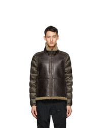 Ten C Brown Shearling Liner Jacket