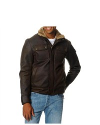 EXcelled Aviator Faux Shearling Jacket