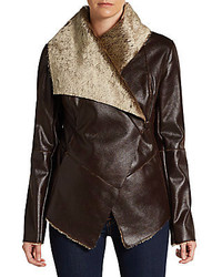 Faux Shearling Draped Jacket