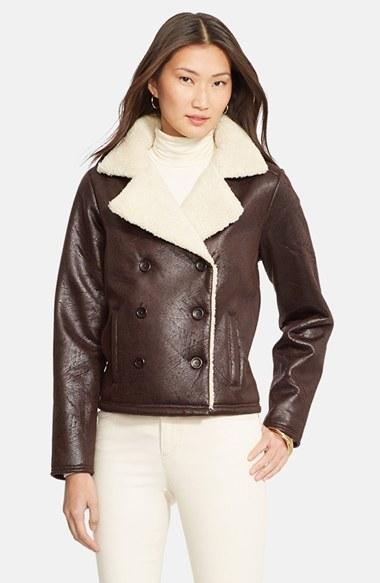 f5af460b16ac87 Lauren Ralph Lauren Faux Shearling Jacket, $165   Nordstrom ...