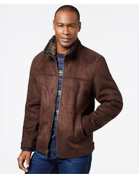 Nautica Faux Shearling Zip Jacket