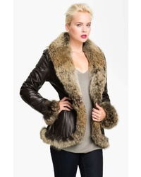 Chosen Furs Genuine Coyote Leather Coat