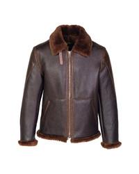 Schott NYC Genuine Shearling B 3 Bomber Jacket