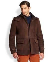Isaia Hooded Shearling Jacket