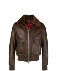 AMI Alexandre Mattiussi Jacket With Shearling Collar
