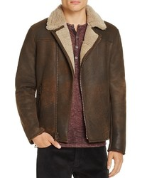 John Varvatos Collection Shearling Moto Jacket