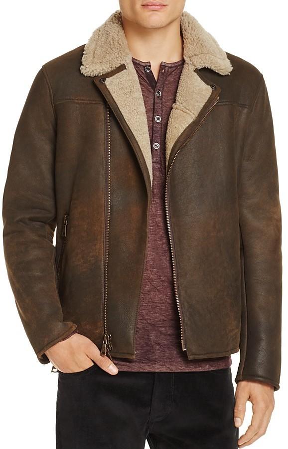 John Varvatos Collection Shearling Moto Jacket