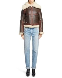 Acne Studios Leather Jacket With Genuine