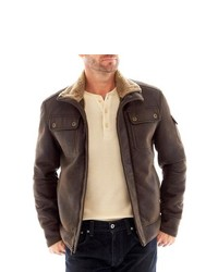 R And O Ro Faux Shearling Aviator Jacket