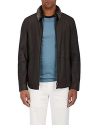Giorgio Armani Shearling Bomber Jacket