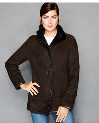 The Fur Vault Shearling Stand Collar Jacket