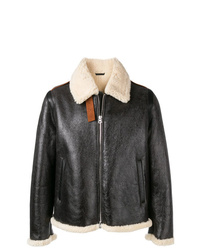Acne Studios Straight Fit Shearling Jacket