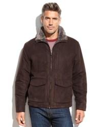 Weatherproof Jacket Microsuede Faux Shearling Jacket