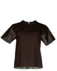 Dark brown short sleeve blouse original 2417883