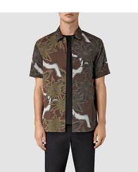 Dark Brown Short Sleeve Shirt