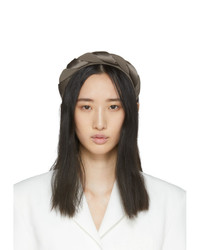 Sophie Buhai Taupe Silk Twisted Headband