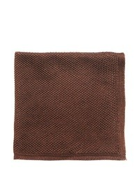 Dark Brown Silk Pocket Square