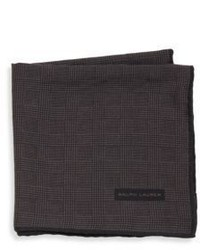 Ralph Lauren Glen Plaid Wool Silk Pocket Square