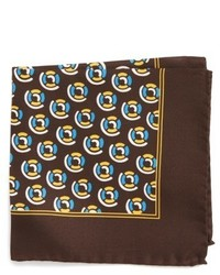 Medallion silk pocket square medium 4911603
