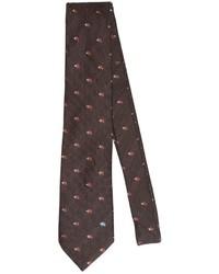 Etro 8cm Hedgehog Wool Silk Jacquard Tie