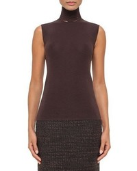 Akris Sleeveless Slash Detail Turtleneck Date