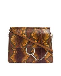 Chloé Faye Snakeskin Shoulder Bag