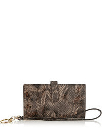 Capulet London Emma Snake Effect Leather Iphone Clutch