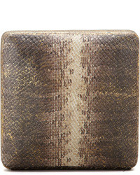 Zoe snake print minaudiere bronzecream medium 86296