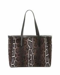Stella McCartney Falabella Snake Print Velvet Tote Bag