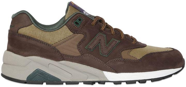 on sale e3682 5669c $164, New Balance 580 Revlite Nubuck Canvas Sneakers