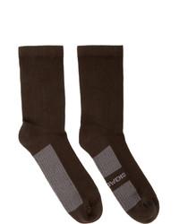 Rick Owens Brown Glitter Socks