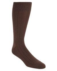 Nordstrom Men's Shop Ultra Soft Solid Ribbed Socks