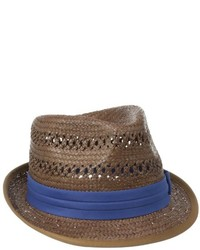 Ben Sherman Vented Straw Trilby Hat