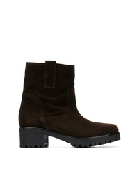 P.A.R.O.S.H. Round Toe Ankle Boots