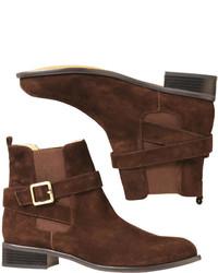Joe Fresh Suede Ankle Boot Dark Brown