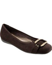 Trotters Sizzle Signature Dark Brown Kid Suede Ornated Shoes