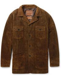 Jean Shop Distressed Suede Jacket