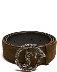 8d68cdaf895 ... Saint Laurent Monogram Snake Buckle Suede Belt
