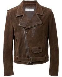 20e9b0d04 Dark Brown Suede Biker Jackets for Men | Men's Fashion | Lookastic.com