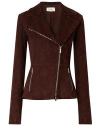 The Row Paylee Suede Biker Jacket