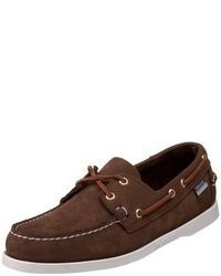Dark Brown Suede Boat Shoes