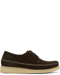 Comme des Garcons Homme Deux Brown Padmore Edition Suede Loafers